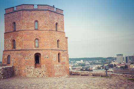 Vilnius, Lithuania. Vilnius city view. Vilnius, Tower of Gediminas, symbol of Vilnius.