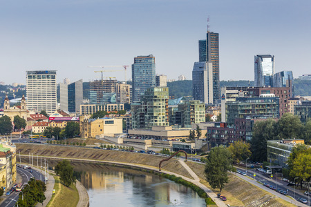vilnius: Vilnius city, business part of city, Lithuania.