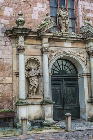 riga: St. Peters churchs entrance. Riga, Latvia