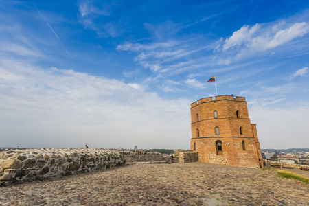 strategical: Vilnius, Lithuania. Vilnius city view. Vilnius, Tower of Gediminas, symbol of Vilnius.