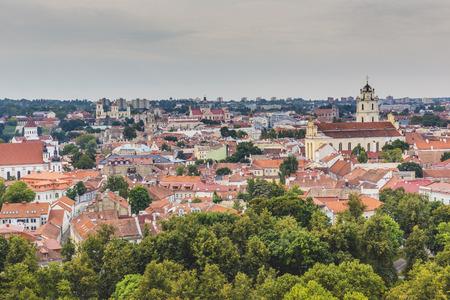 vilnius: Vilnius old town cityscape, Lithuania