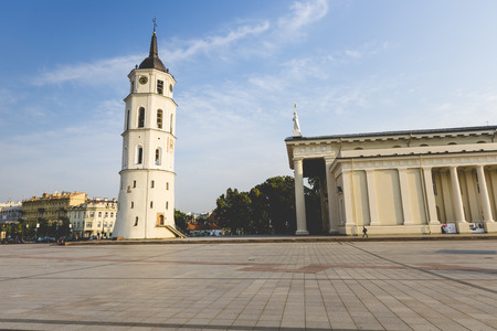 sainthood: The Cathedral of Vilnius is the main Roman Catholic Cathedral of Lithuania. It is situated in Vilnius Old Town, just off of Cathedral Square. It is the heart of Catholic spiritual life in Lithuania. Stock Photo