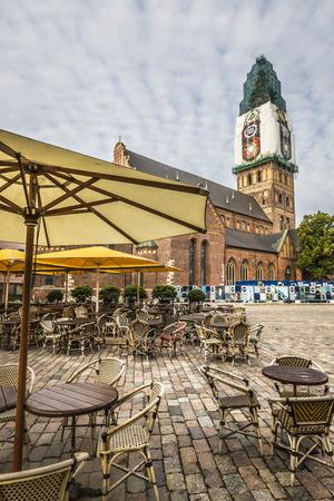 riga: Historical building of Riga Dome Cathedral, Latvia. Editorial