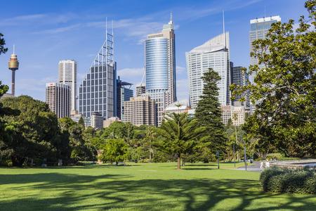 Skyline of Sydney with city central business district. 版權商用圖片