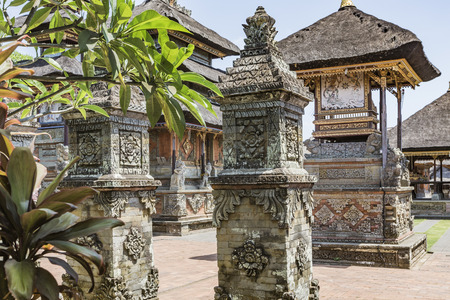 indonesia culture: Temple in Bali, Indonesia on a beautiful sunny day