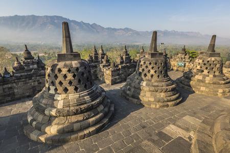 biggest: the biggest bhuddist temple Borobudur in Yogjakarta in Java, Indonesia