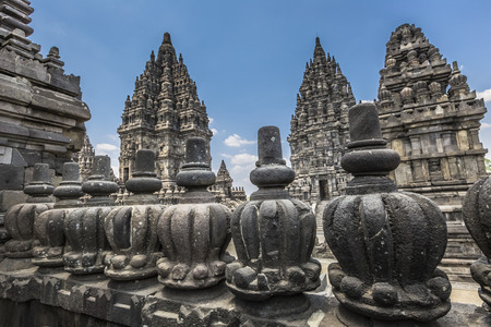 indonesia culture: Prambanan temple near Yogyakarta on Java island, Indonesia
