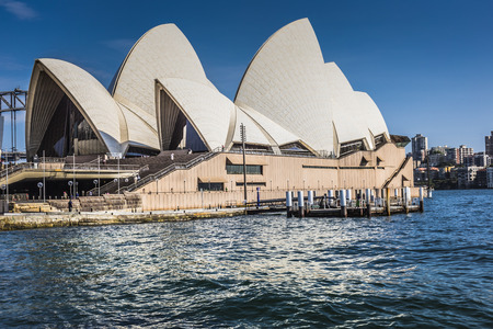 identified: SYDNEY - OCTOBER 27 : Opera House on October 27, 2015 in Sydney. It is Identified as one of the 20th centurys most distinctive buildings and one of the most famous performing arts centres in the world. Editorial