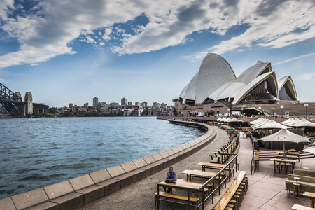 performing arts: SYDNEY - OCTOBER 27 : Opera House on October 27, 2015 in Sydney. It is Identified as one of the 20th centurys most distinctive buildings and one of the most famous performing arts centres in the world. Editorial