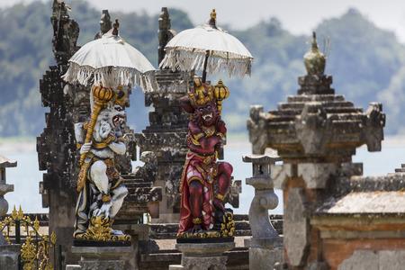 temple: Ulun Danu temple Beratan Lake in Bali Indonesia
