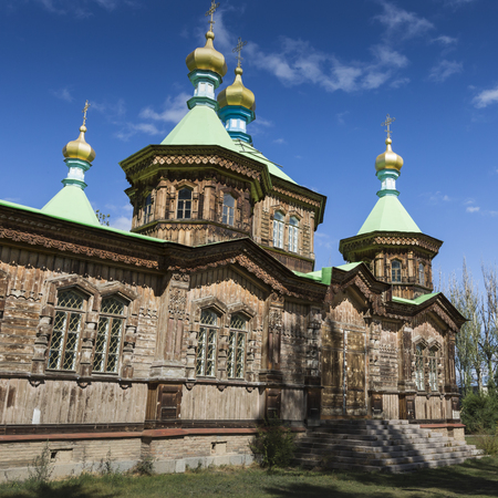 russian orthodox: The Russian Orthodox Holy Trinity Cathedral in Karakol