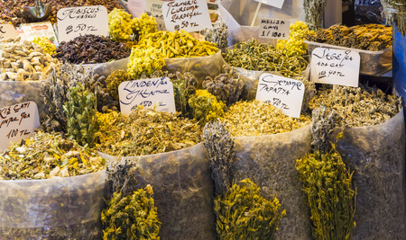 bazar: Herbs on the Grand Bazar in Istanbul