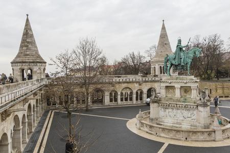 bastion: BUDAPEST, HUNGARY - DECEMBER 10, 2015: Fishermens bastion in Budapest, Hungary