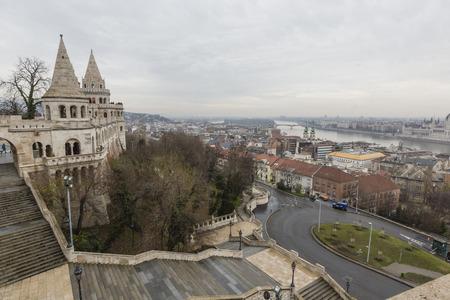 schulek: BUDAPEST, HUNGARY - DECEMBER 10, 2015: Fishermens bastion in Budapest, Hungary