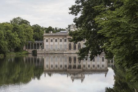 lazienki: The Lazienki palace in Lazienki Park, Warsaw. Lazienki Krolewskie. Poland