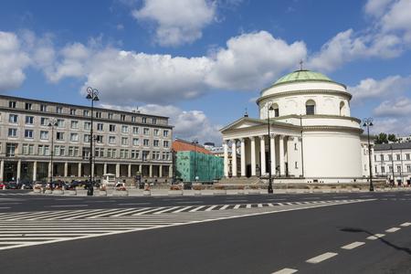 tenement buildings: WARSAW - JULY 09: Warsaw in Poland