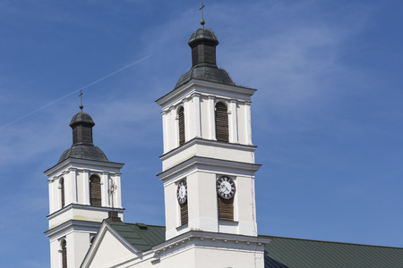 archtecture: Church of St. Alexander in Suwalki. Poland Stock Photo