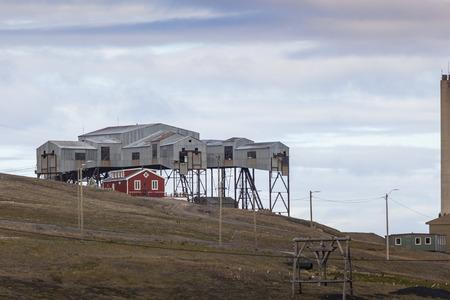 inclement: Beautiful scenic view of Longyearbyen (Svalbard island), Norway