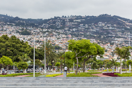 june 25: FUNCHAL, PORTUGAL - JUNE 25: Funchal city at summer time on  June 25, 2015 in Madeira Island, Portugal.