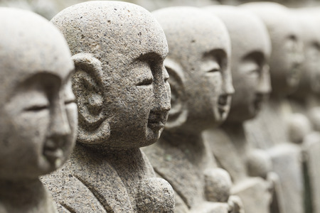 japanese temple: Statues at Japanese temple