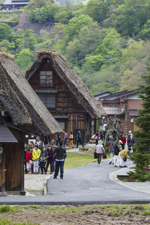 shirakawago: Traditional and Historical Japanese village Ogimachi - Shirakawa-go, Japan Editorial