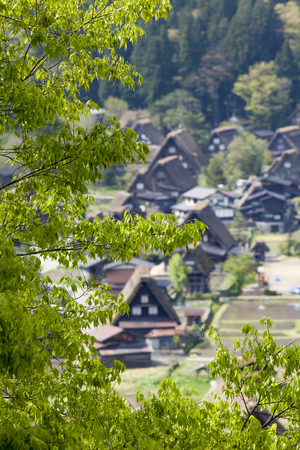 shirakawago: Traditional and Historical Japanese village Ogimachi - Shirakawa-go, Japan Stock Photo