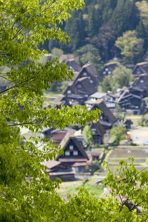 ogimachi: Traditional and Historical Japanese village Ogimachi - Shirakawa-go, Japan Stock Photo