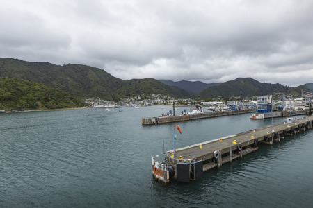 townscape: Townscape of Picton and Marlborough Sounds, New Zealand. Famous harbor town.
