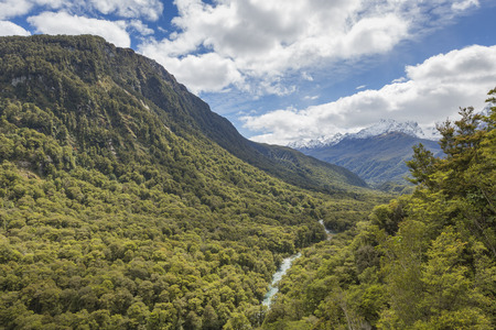 chasm: The Chasm (Fiordland, South Island, New Zealand) Stock Photo