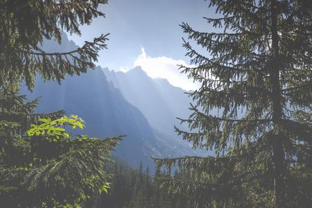giewont: Poland - Tatra National Park in Tatra Mountains, part of Carpathian Mountains.