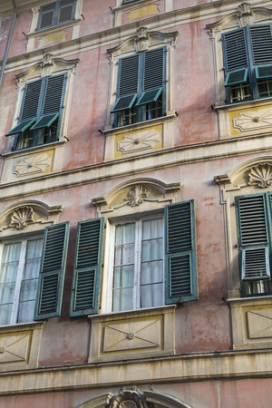 mediterranean house: Nice mediterranean house facades with different colours Stock Photo