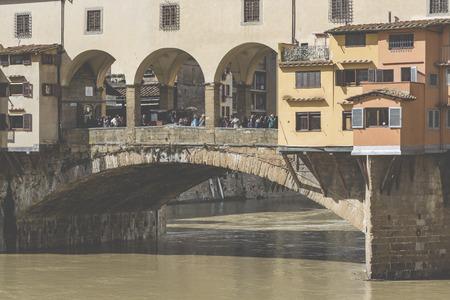 hdri: FLORENCE, ITALY - MARCH 07: Bridge Ponte Vecchio in Florence, Italy