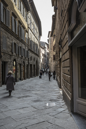 siena italy: SIENA, ITALY 10 MARCH, 2016: Ancient medieval town of Italy.