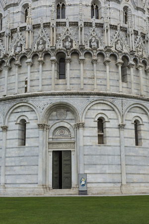 piazza dei miracoli: View of Leaning tower and the Basilica, Piazza dei miracoli, Pisa, Italy Stock Photo