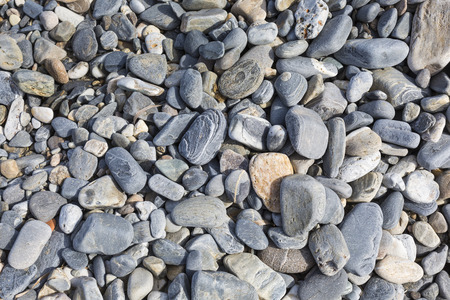 dive trip: Sea stones or the wet smooth black stone on the beach as background.