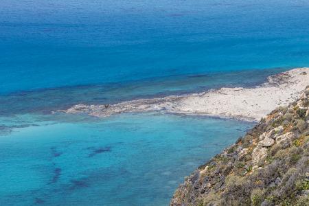 kreta: Balos bay at Crete island in Greece. Area of Gramvousa.