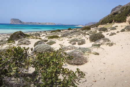 kreta: Balos bay at Crete island in Greece. Area of Gramvousa.
