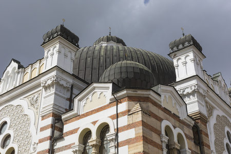 sofia: SOFIA BULGARIA APRIL 14 : The Sofia Synagogue is the largest synagogue in Southeastern Europe, one of two functioning in Bulgaria on April 14 2016 in Sofia Bulgaria