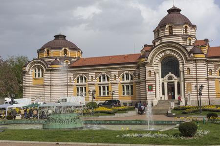 bath house: SOFIA, BULGARIA - APRIL 14: Central public mineral bath house in Sofia, Bulgaria On April 14, 2016 Editorial