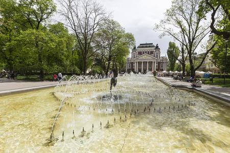 authoritative: Sofia, Bulgaria - April 14, 2016 - Ivan Vazov National Theatre is Bulgarias national theatre, the oldest and most authoritative theatre in Bulgaria, one of the important landmarks of Sofia,Bulgaria. Editorial
