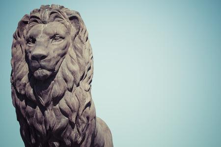 Lion statue in Skopje, Macedonia