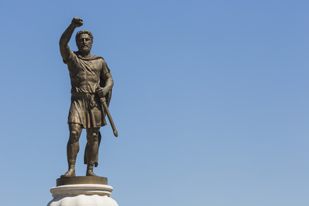 alexander the great: Statue of Filip II, father of Alexander the Great monument. Skopje, Macedonia