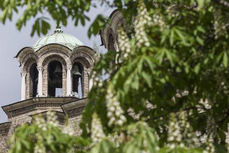 episcopal: St Nedelya Church (Nagia Nedelja) , Holy Sunday Church is an Eastern Orthodox church in Sofia, Bulgaria Stock Photo