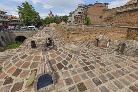 sulphur: TBILISI, GEORGIA - MAY 07, 2016: Sulphur baths in Abanotubani district of Tbilisi, Georgia Editorial