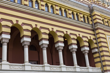 rustaveli: TBILISI, GEORGIA - MAY 07: The exterior of renovated Tbilisi State Opera House on Rustaveli avenue in the center of Tbilisi city, the capital of Georgia, on May 07, 2016