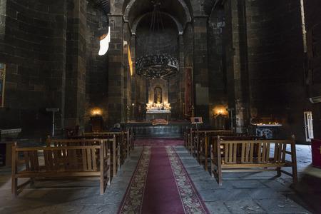 apostolic: ECHMIADZIN, ARMENIA - MAY 02, 2016: Iside Armenian apostolic church