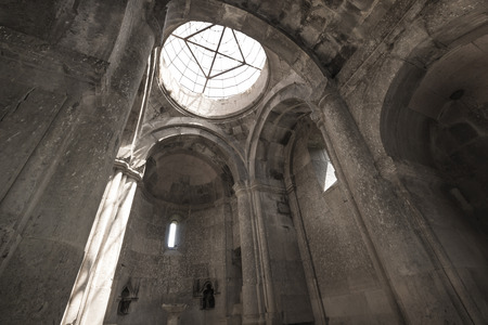 remained: GOSH, ARMENIA - MAY 02: Goshavank Monaster May 02 , 2016. Goshavank complex was built in 12-13th century, has remained in good condition which makes it a popular tourist destination
