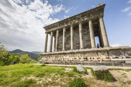 pagan: Garni, ARMENIA - May 02,2016 : Ancient Garni pagan Temple, the hellenistic temple in Armenia