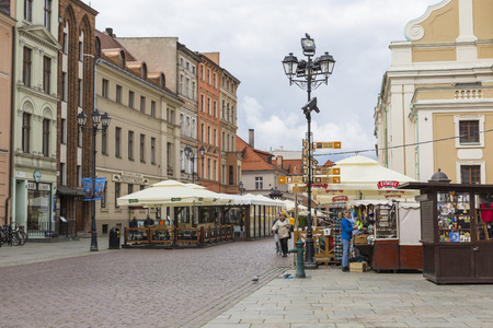 torun: TORUN, POLAND - MAY 18, 2016: Traditional architecture in famous polish city, Torun, Poland. Editorial