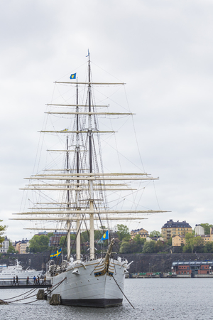 chapman: STOCKHOLM SWEDEN 21 May 2016: The ship af Chapman in Stockholm Sweden.